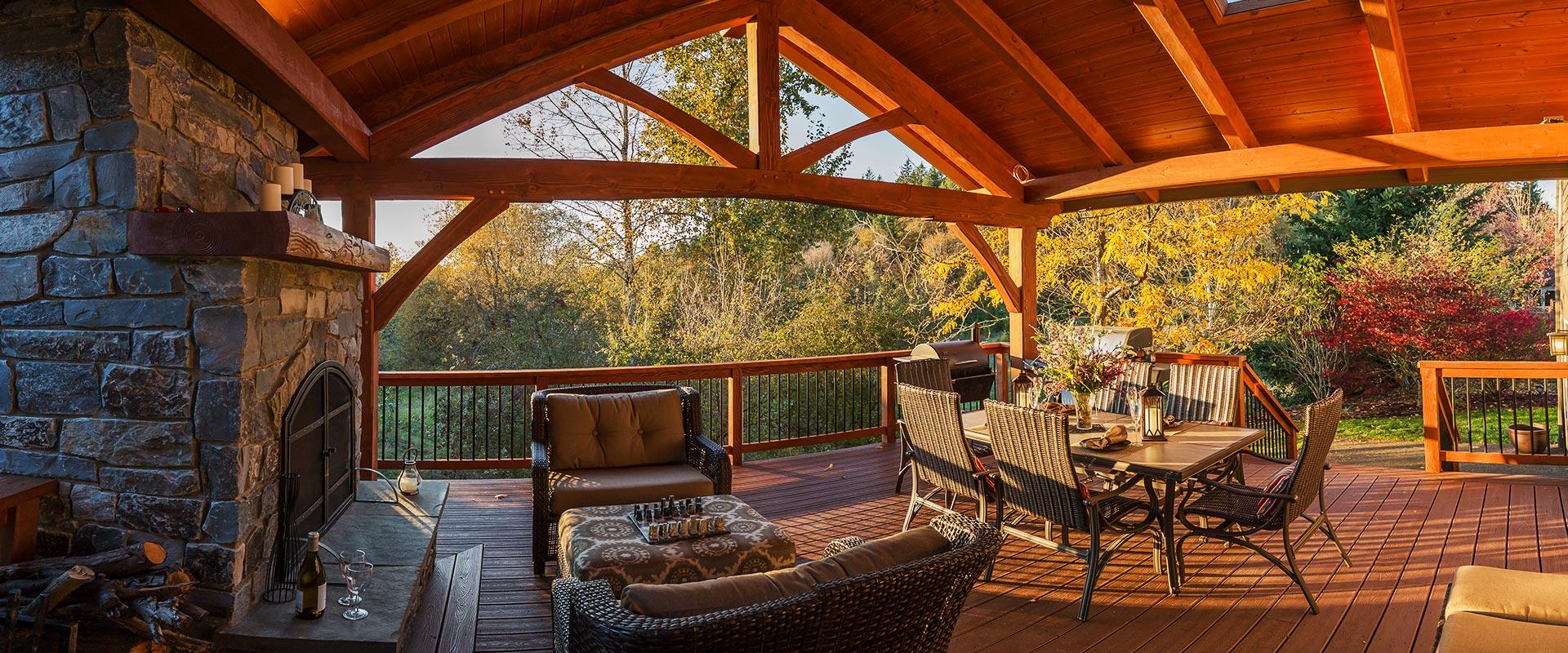 Timber Frame Pavilions, Trusses & Homes | Portland, Estacada