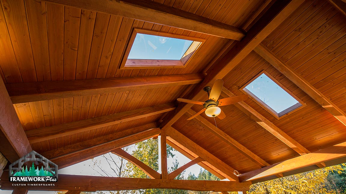 Custom gazebo with skylights built in Estacada, OR by Framework Plus
