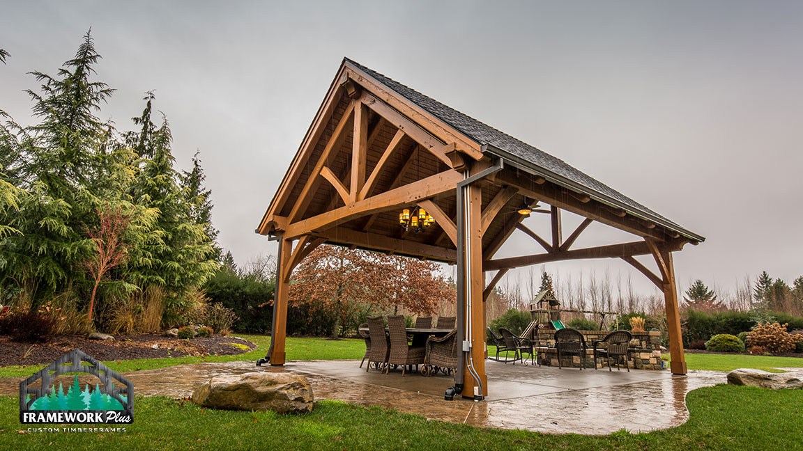 King Post Truss Pavilion Kit In Boring Or Framework Plus