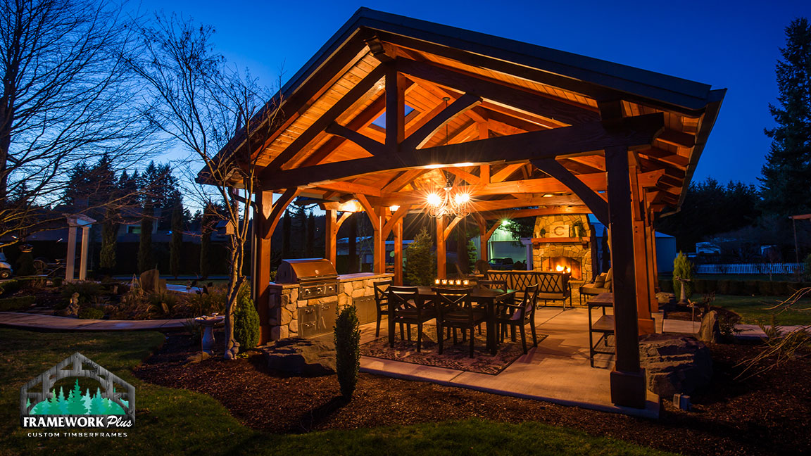 Mt Hood Timber Frame Pavilion Boring Or Framework Plus