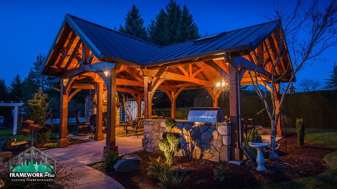 Timber Frame Home & Pavilion Photo Gallery - Framework Plus