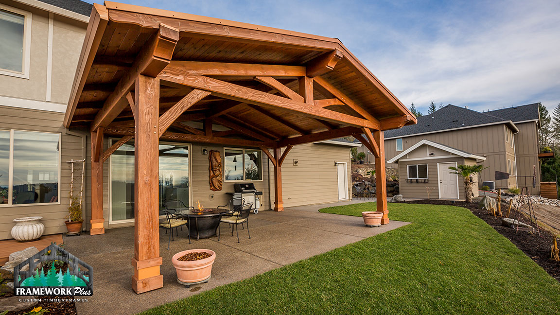 Outdoor Living Pavilion In Happy Valley, OR - Framework Plus