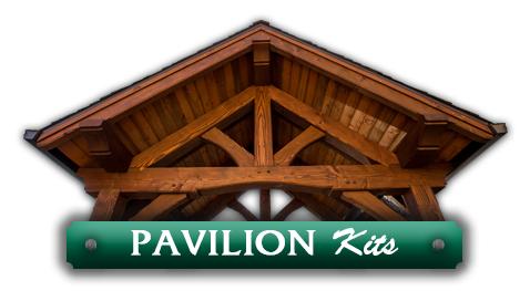 The top of a pavilion above the words 'Pavilion Kits' leading to work by Framework Plus in Portland, OR