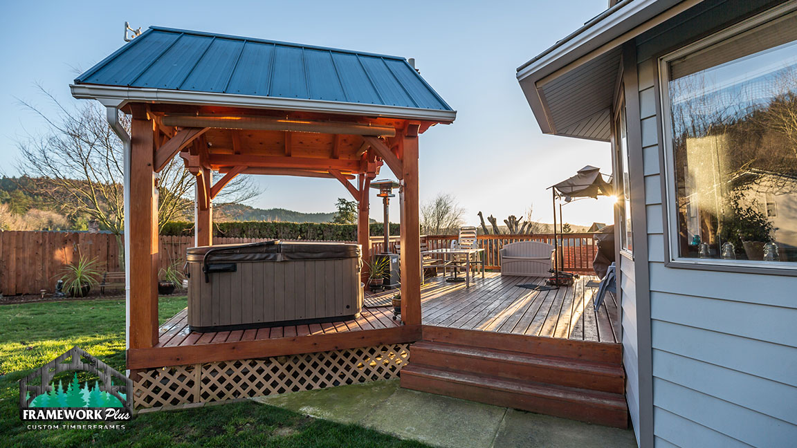 Free Hot Tub >> Timber Frame Hot Tub Pavilion In Gresham, OR - Framework Plus