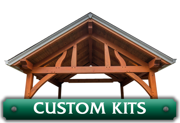 A pavilion with the words 'Custom Kits' advertising the custom kit creation option available through Framework Plus in Estacada, OR