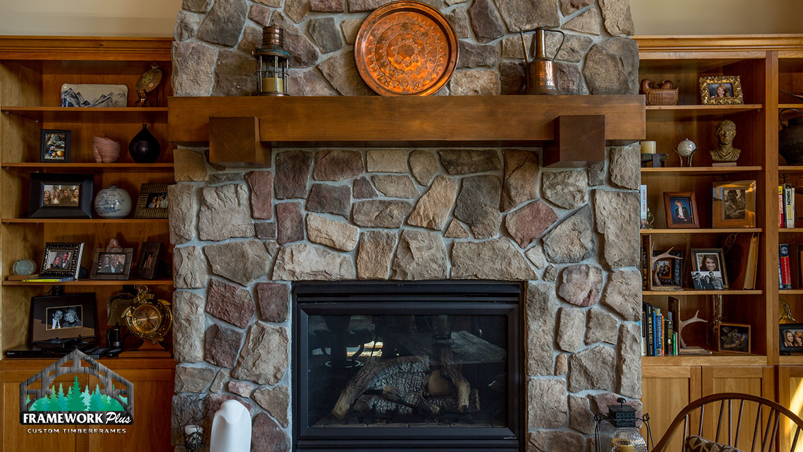 Heavy Timber Fireplace Mantels Framework Plus