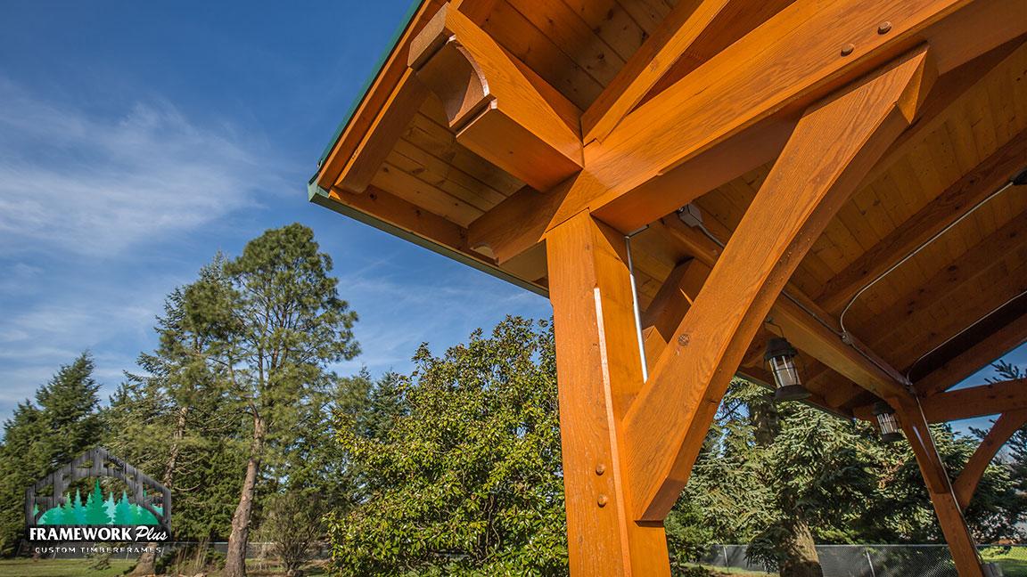 Timber Frame Pavilion Kit In Vancouver Wa Framework Plus